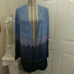 Chico's Cool Ombre Cardigan Sweater